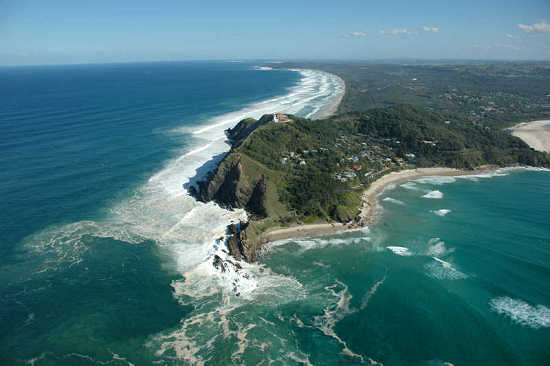 Motorglider over Cape Byron -
